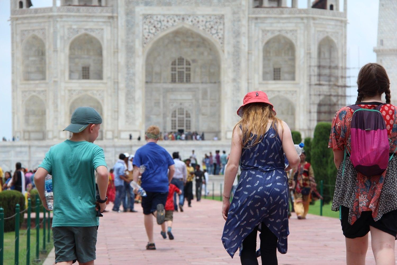 Taj Mahal with kids